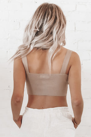 Over My Head Tan Knit Tank