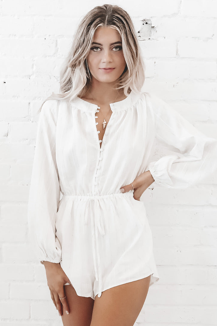 Leave The Light On Lantern Sleeve Romper