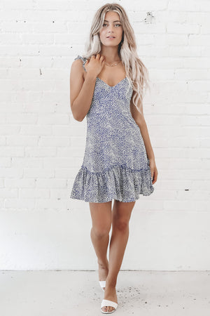 Go To Brunch Blue Mini Dress