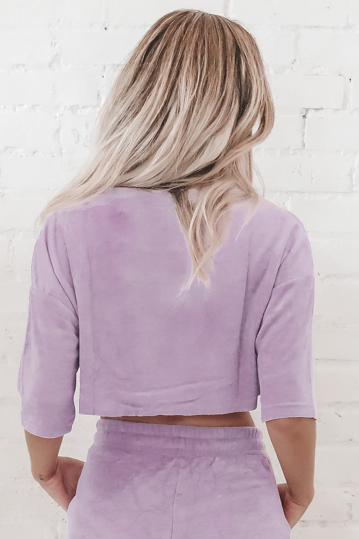 She's A Local Lavender Crop Top