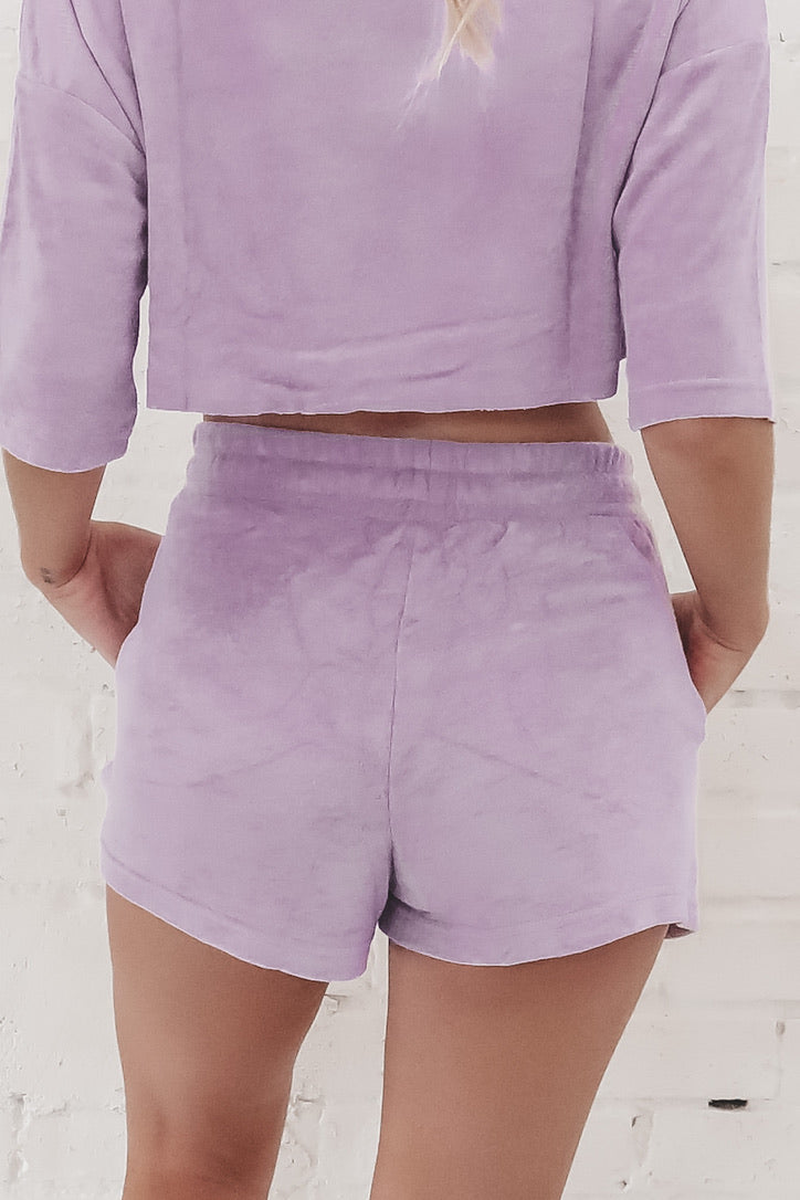 She's A Local Lavender Shorts