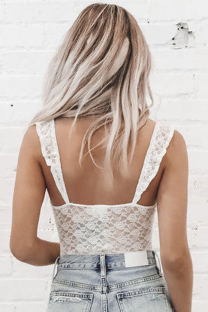 For The Love Of Lace White Bodysuit
