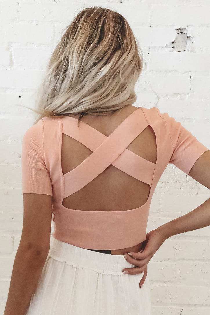X Marks The Spot Blush Knit Top