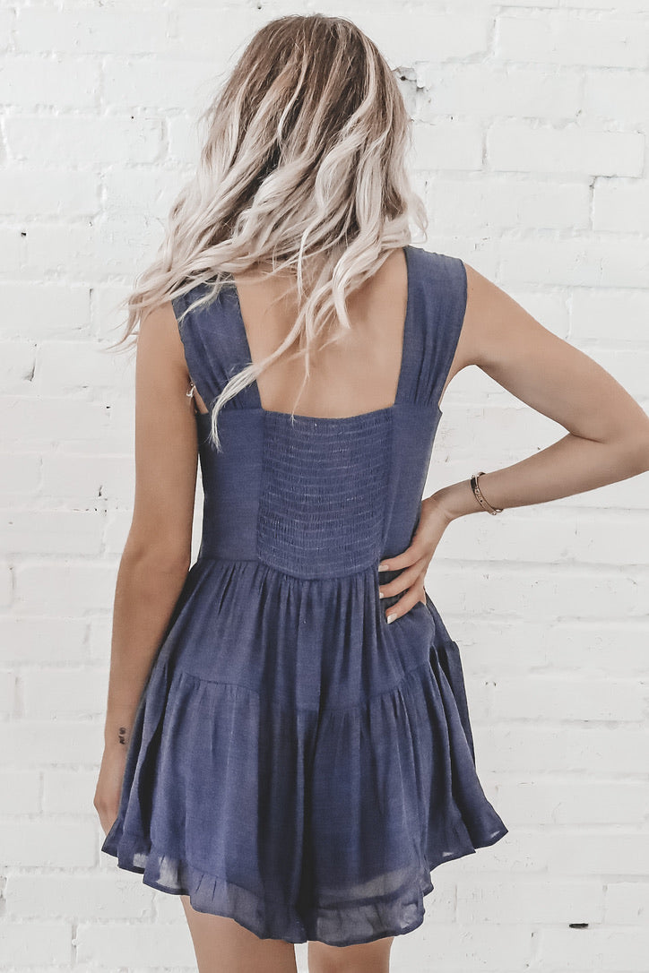 Button Up Blues Button Down Romper