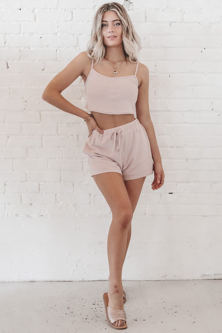 Cut To The Chase Rose Cami And Short Sets