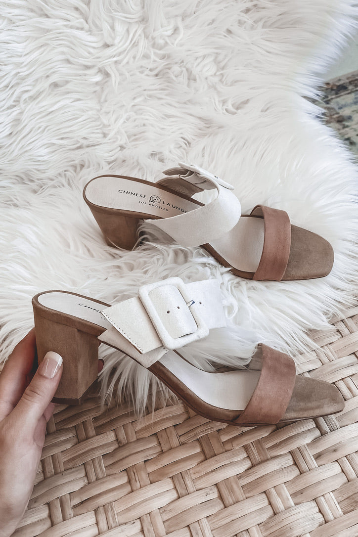 CHINESE LAUNDRY Yippy Suede Slide Sandals