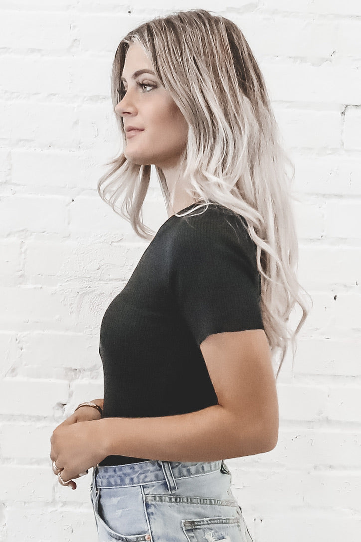 Anything But Basic Black One Shoulder Top