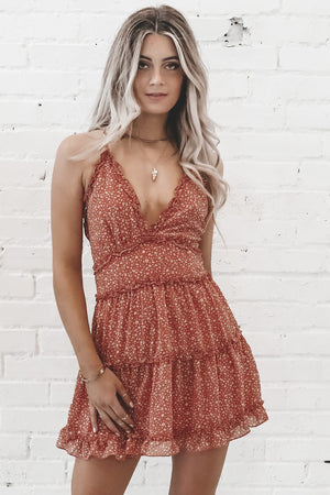 Mind Over Matter Sunset V Neck Dress
