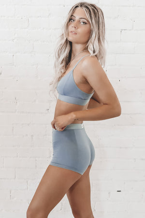 RICHER POORER Cut Out Bralette In Blue Mirage Loungewear