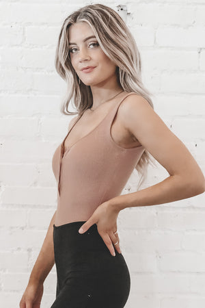 BAYSE Nude But Make It New Button Up Bodysuit