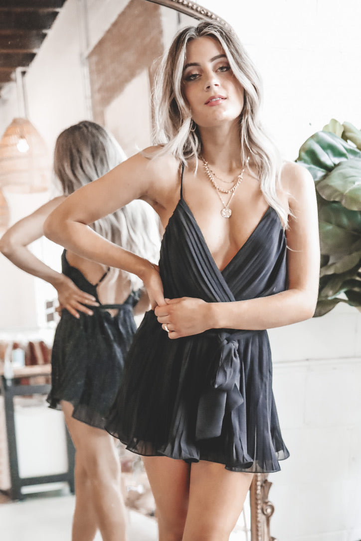 Proper Attire Please Pleated Romper