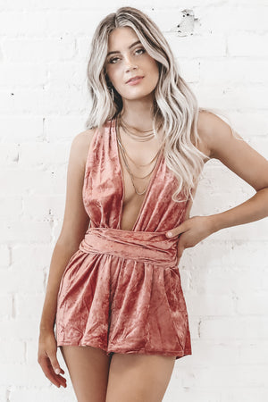 Girls Night Out Rose Wrap Romper