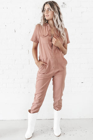 Suit Up Sis Short Sleeve Jumpsuit