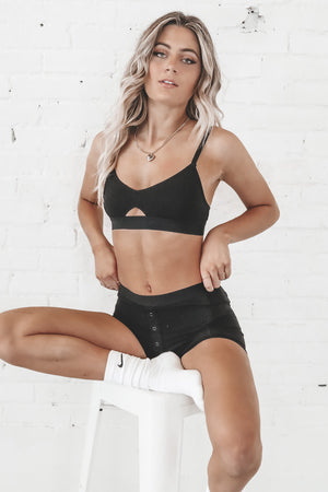 RICHER POORER Cut Out Bralette In Black Loungewear
