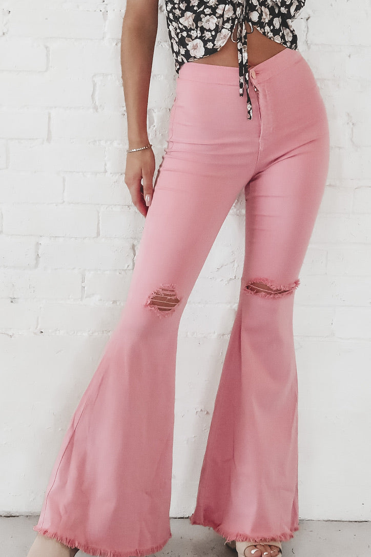 Always Blushing High Rise Flares