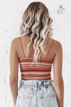 Stripes For Life Ribbed Cami
