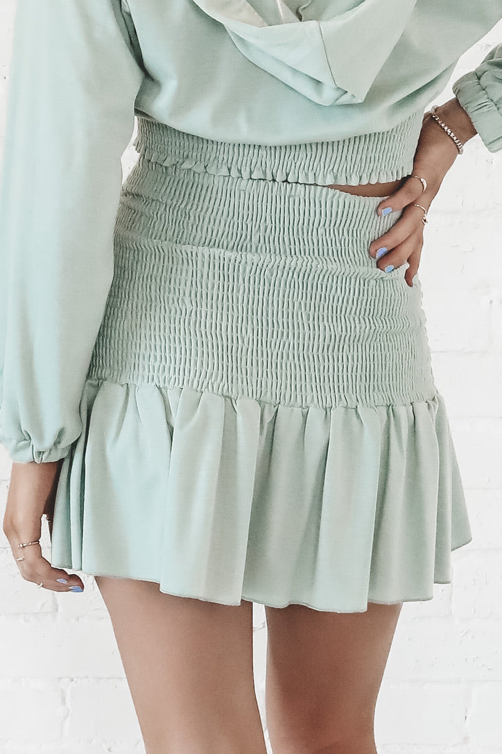 Game On Babe Pistachio Skirt