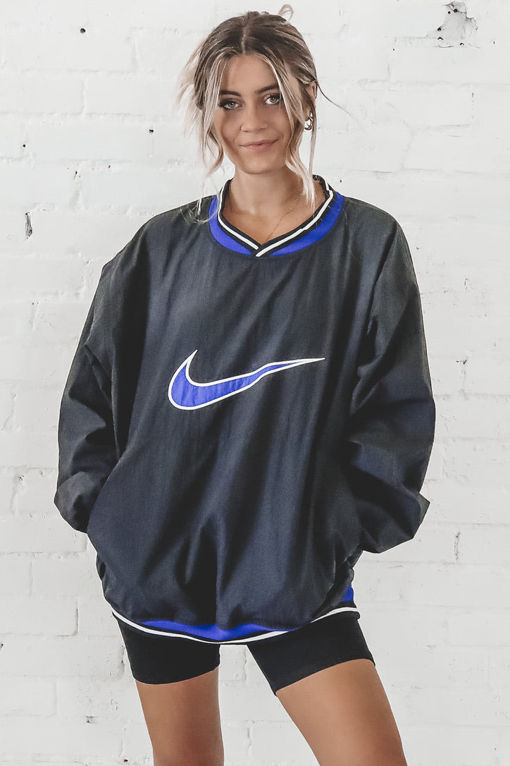 VINTAGE 90's Black And Blue Nike Windbreaker 113