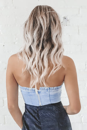 Hey Cowboy Denim Tube Top