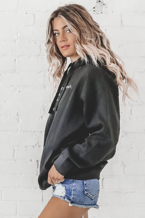 Fluent French Black Oversized Hoodie