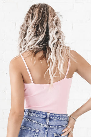 Doing Great Sweetie Pink Strappy Tank