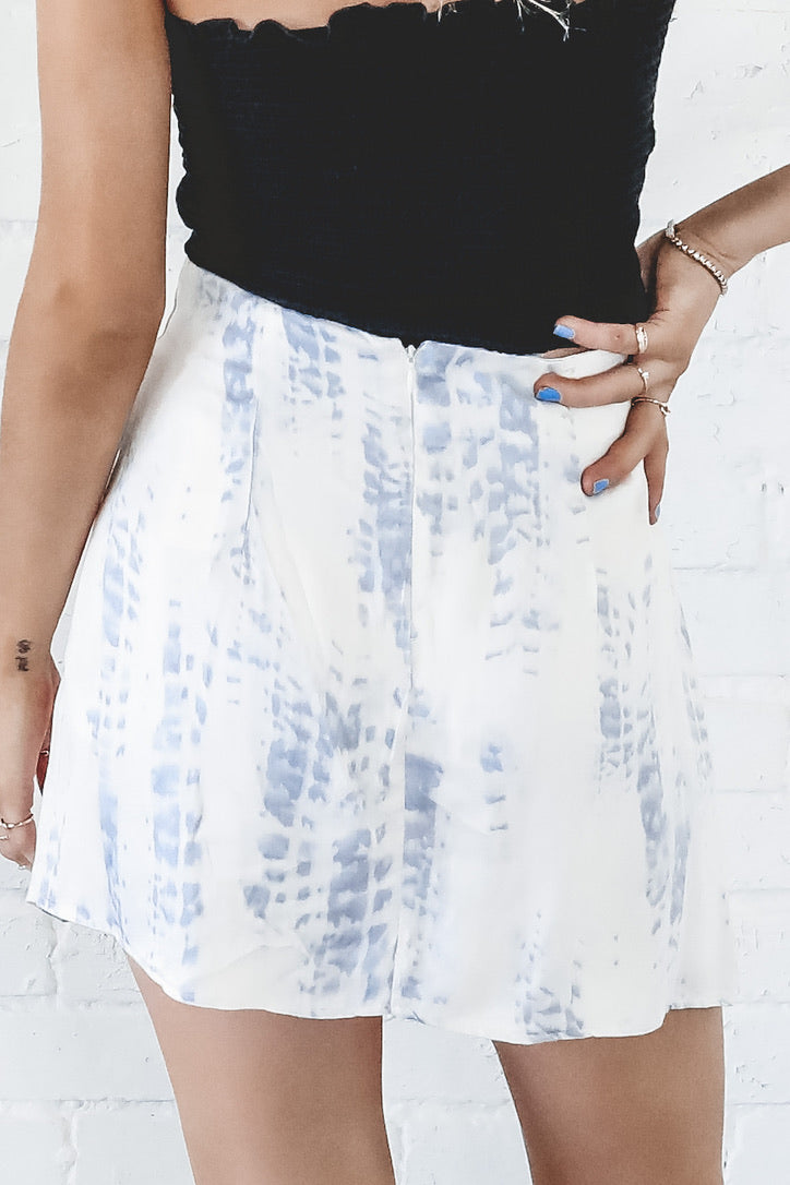 Wavy Baby Tie Dye Mini Skirt