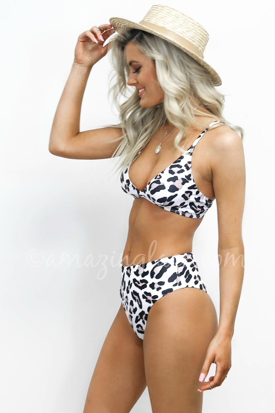 ad14546ccac90 Ocean Drive Leopard High Waisted Cheeky Bikini Bottoms – Amazing Lace