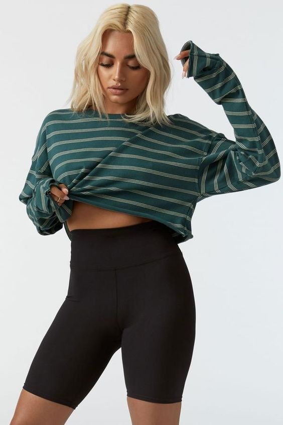JOAH BROWN Jade Crop Tee