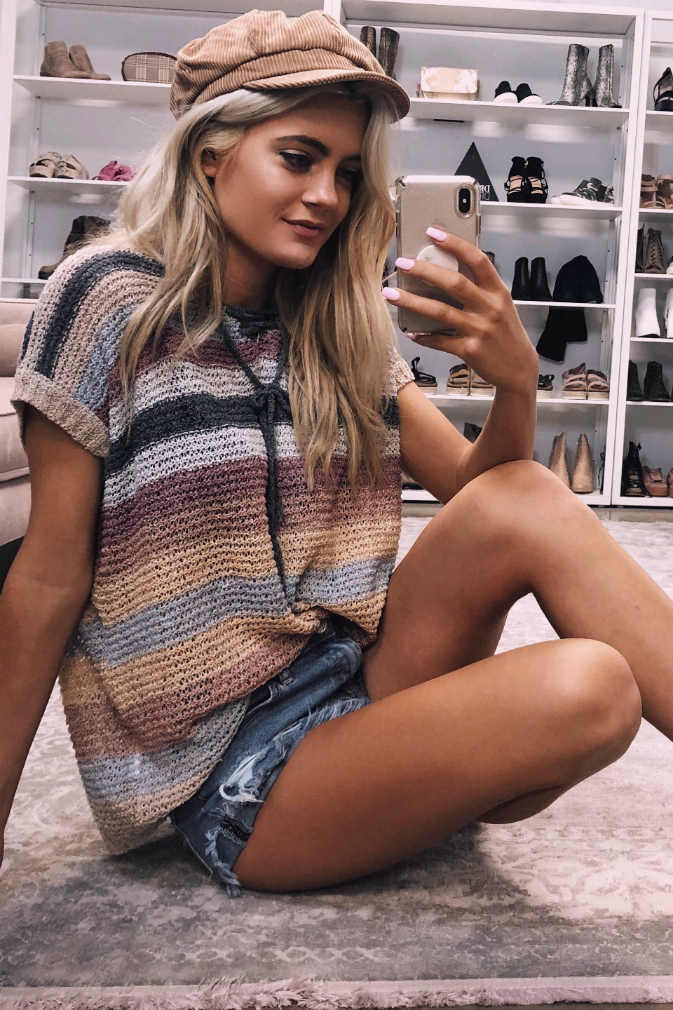 Happening Again Stripe Knit Sweater