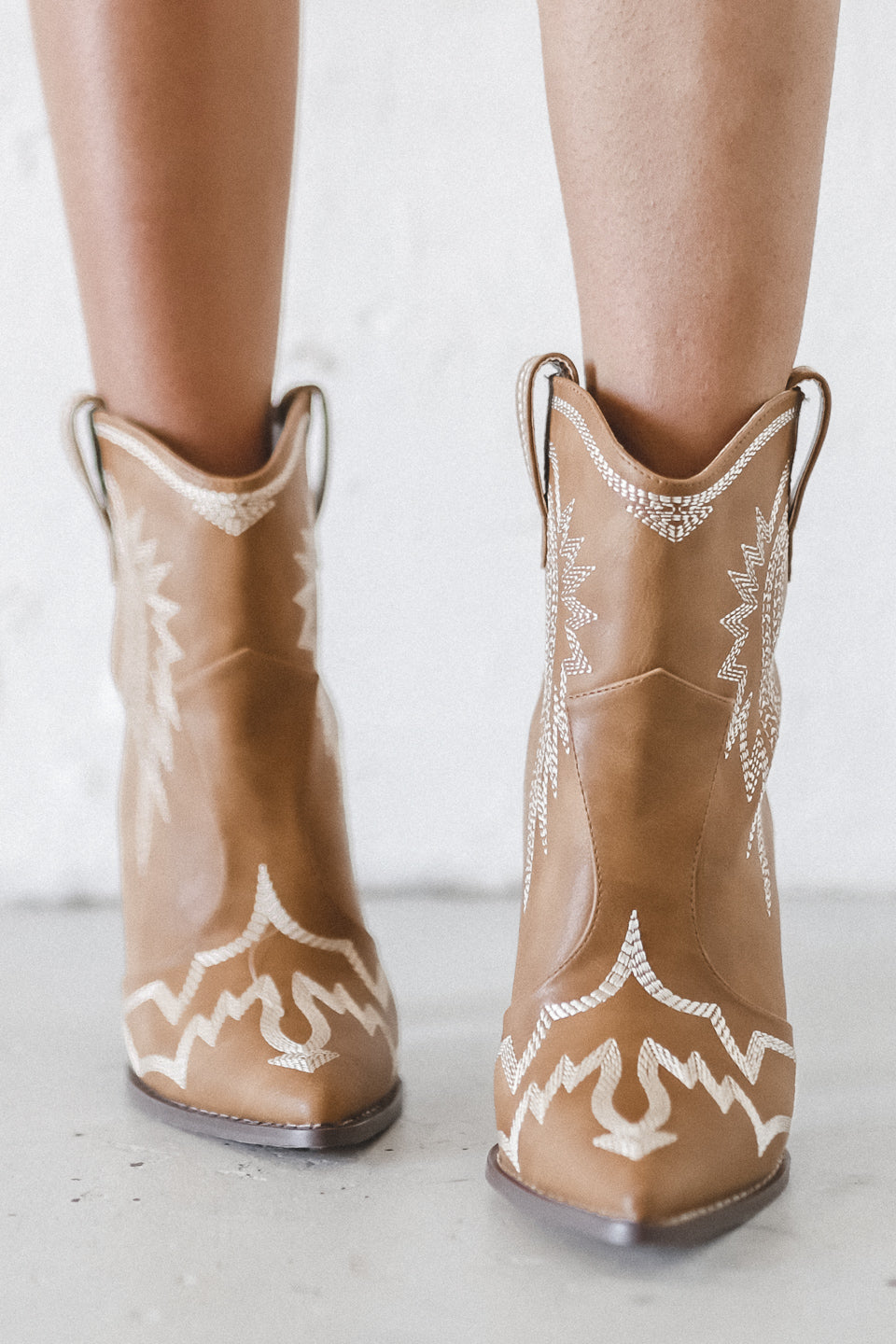 Highway To Hell Western Tan Booties
