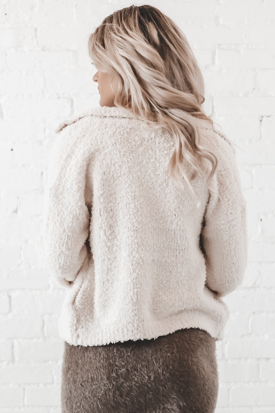 Lose Control Ivory Sweater Cardigan