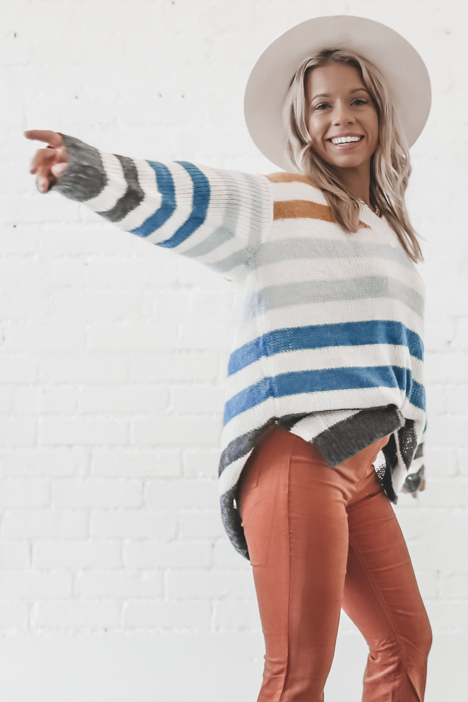 Candy Land Mustard Striped Sweater