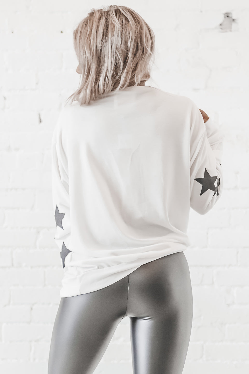 Day Star Print Long Sleeve Top