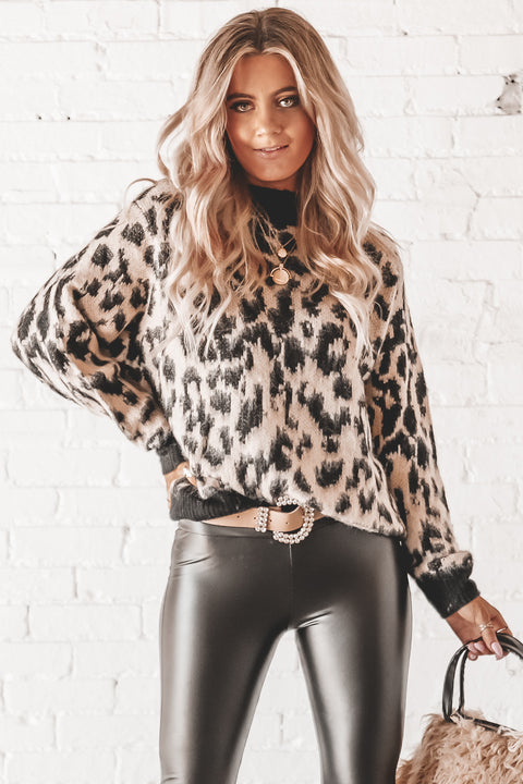 A-List Black Leopard Print Sweater