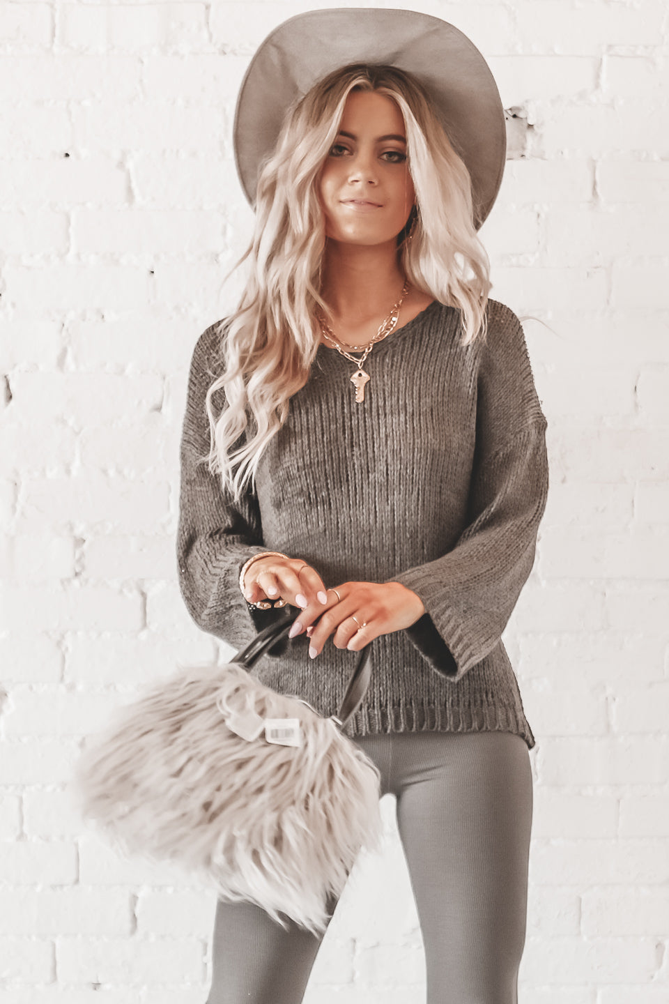 Tricks Only Charcoal Lightweight Knitted Sweater
