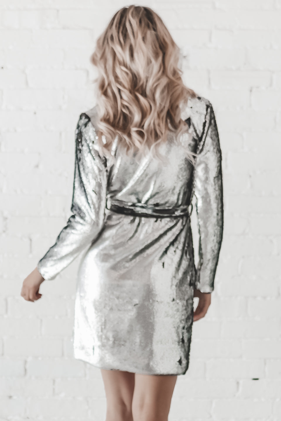 CHASER Sequin Wrap Dress