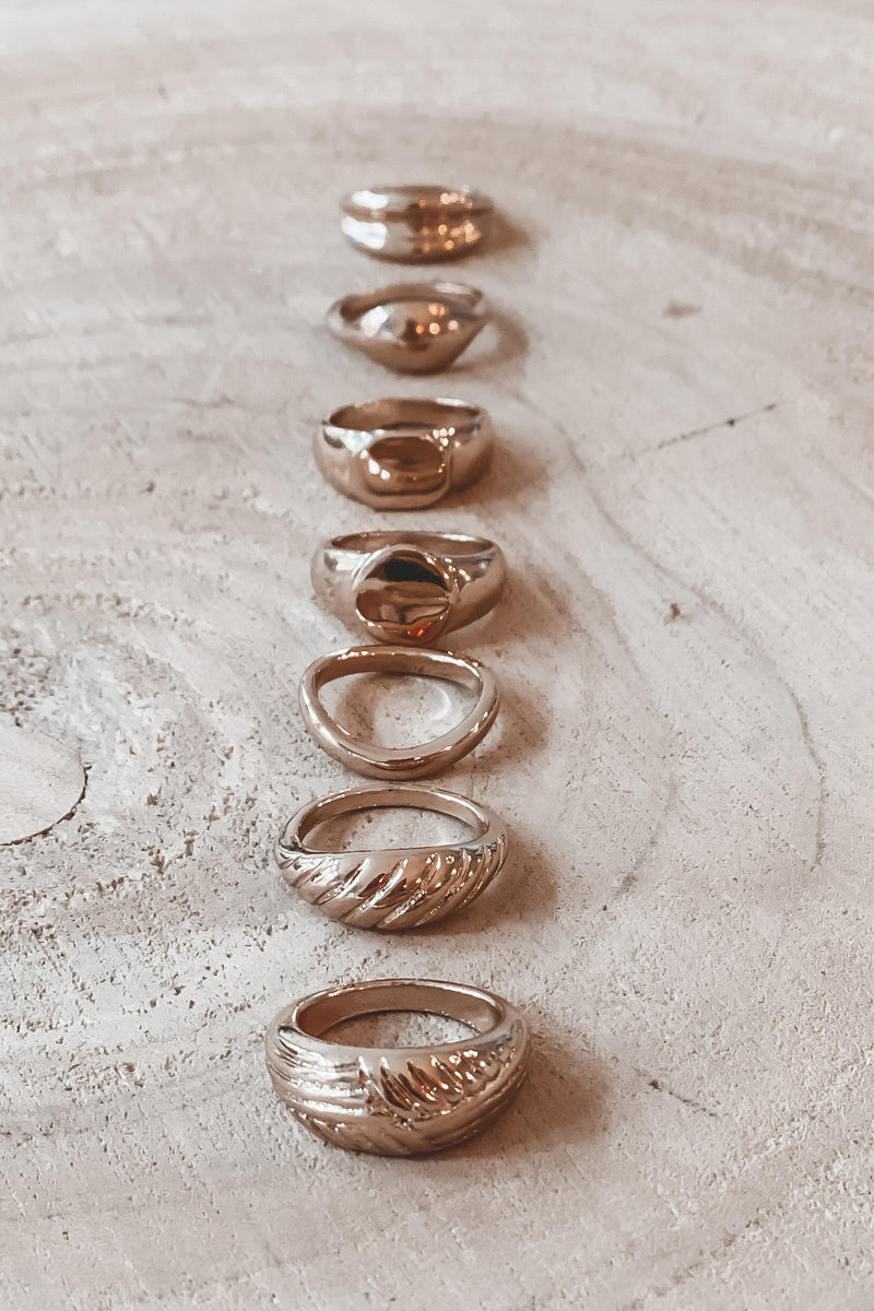 As Far As You Know Gold Stackable Rings