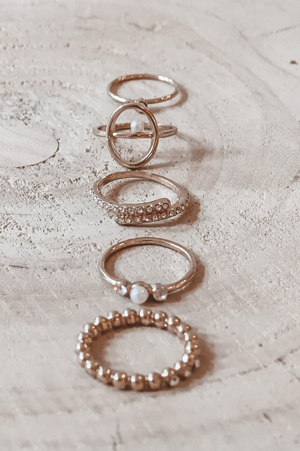 In The Loop Gold Stackable Rings