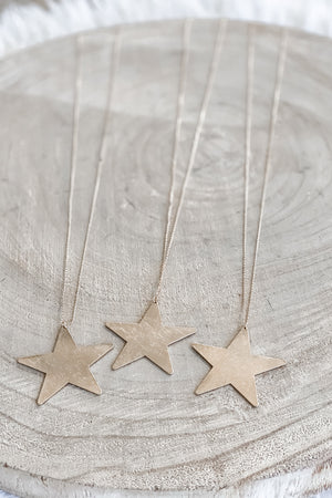 Let It Shine Gold Star Necklace