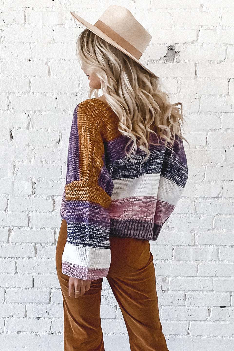 Outta My Mind Multi Color Striped Sweater