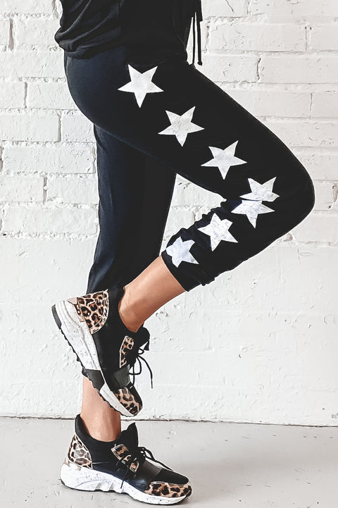 Day Star Black Star Print Joggers