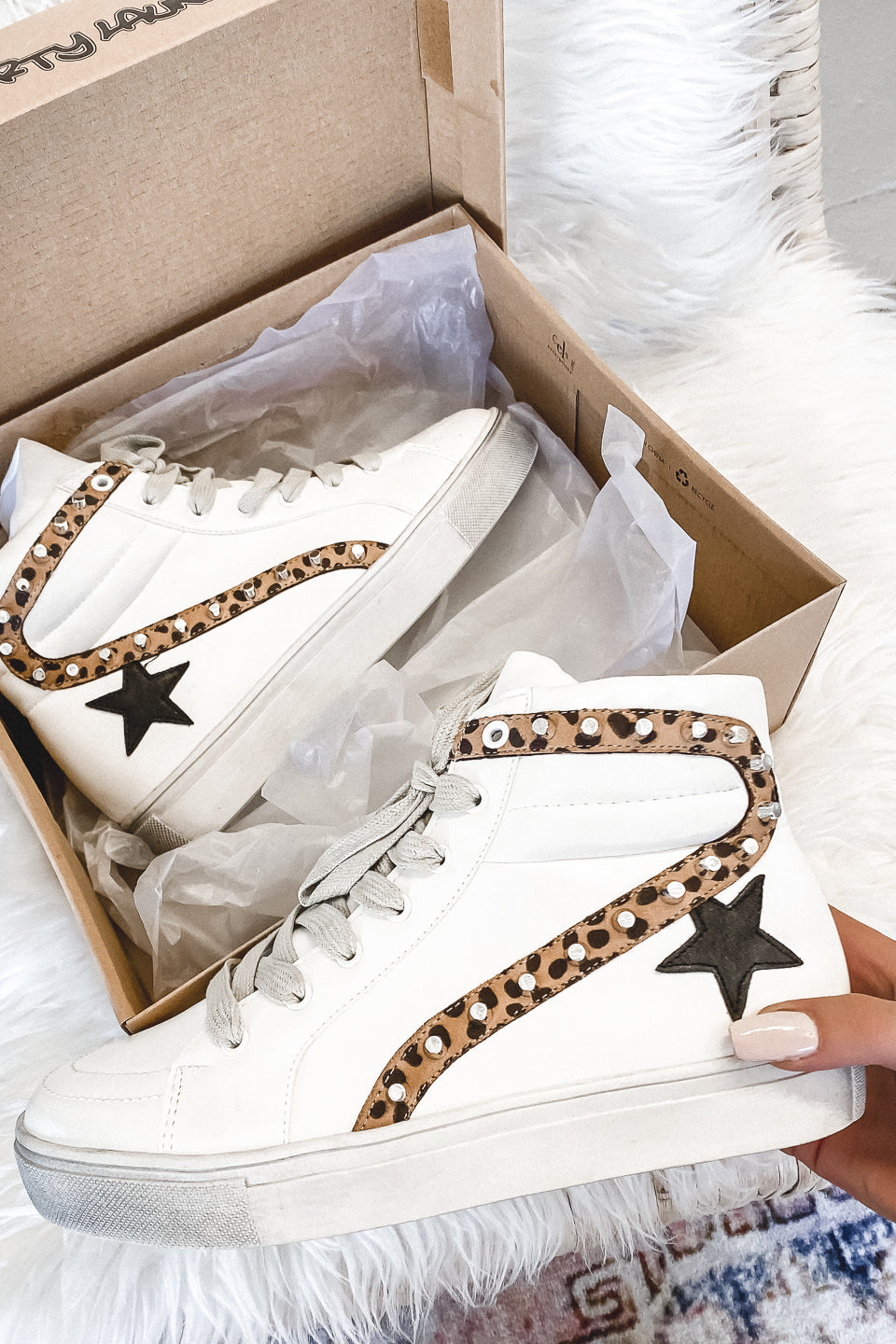 Skater Boy White High Top Sneakers