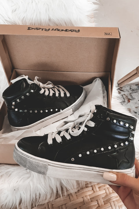 Skater Boy Black High Top Sneakers