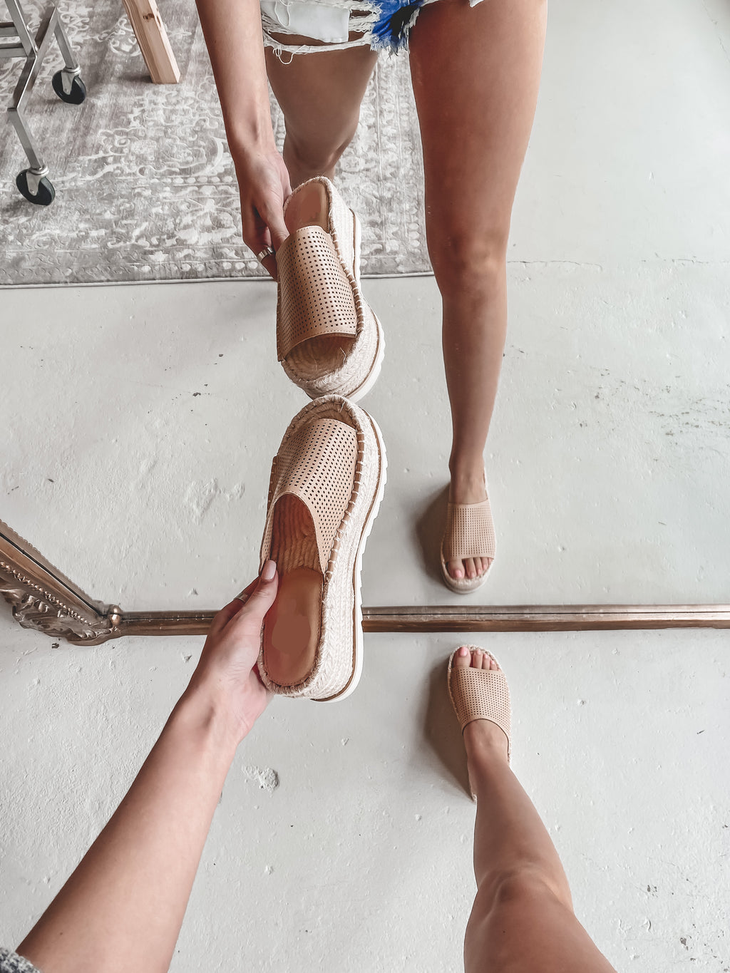 Watch Me Walk Nude Platform Sandals