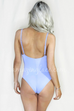 Water Sign Pastel Blue One Piece Swimsuit