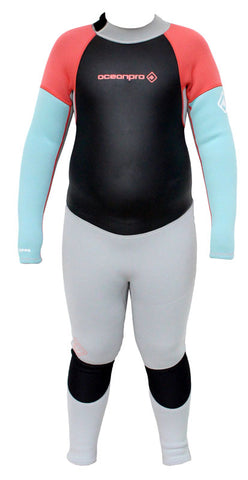 Ocean Pro Nippa 3mm Girls Steamer Wetsuit - NEW