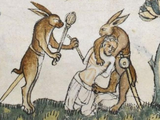 Medieval Depictions Rascal Rabbits