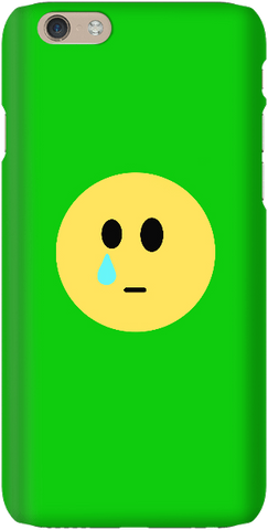 Sad Face - Bright Green - iPersonalised