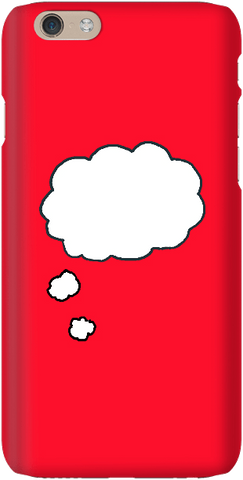 Thinking Thoughts - Bright Red - iPersonalised
