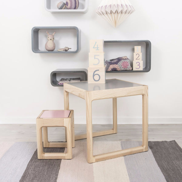 Sebra - Flip top table - turq/light grey - Table - Sebra - Bmini - Design for Kids - 1